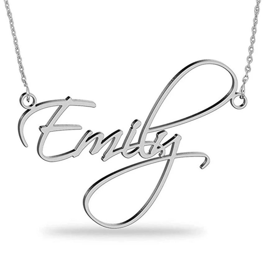 Miya custom made Name Necklace Personalized Sterling Silver