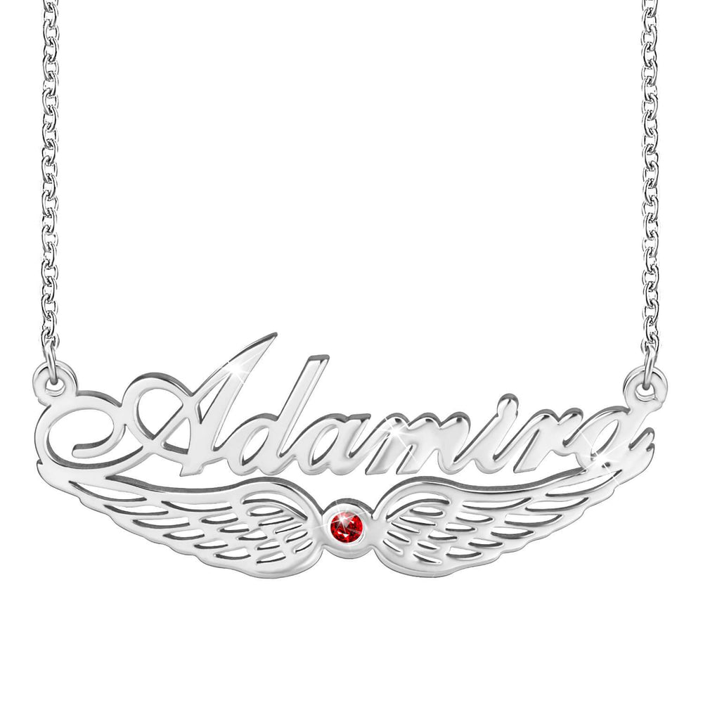 Miya custom made Angel Wing Classic Name Necklace
