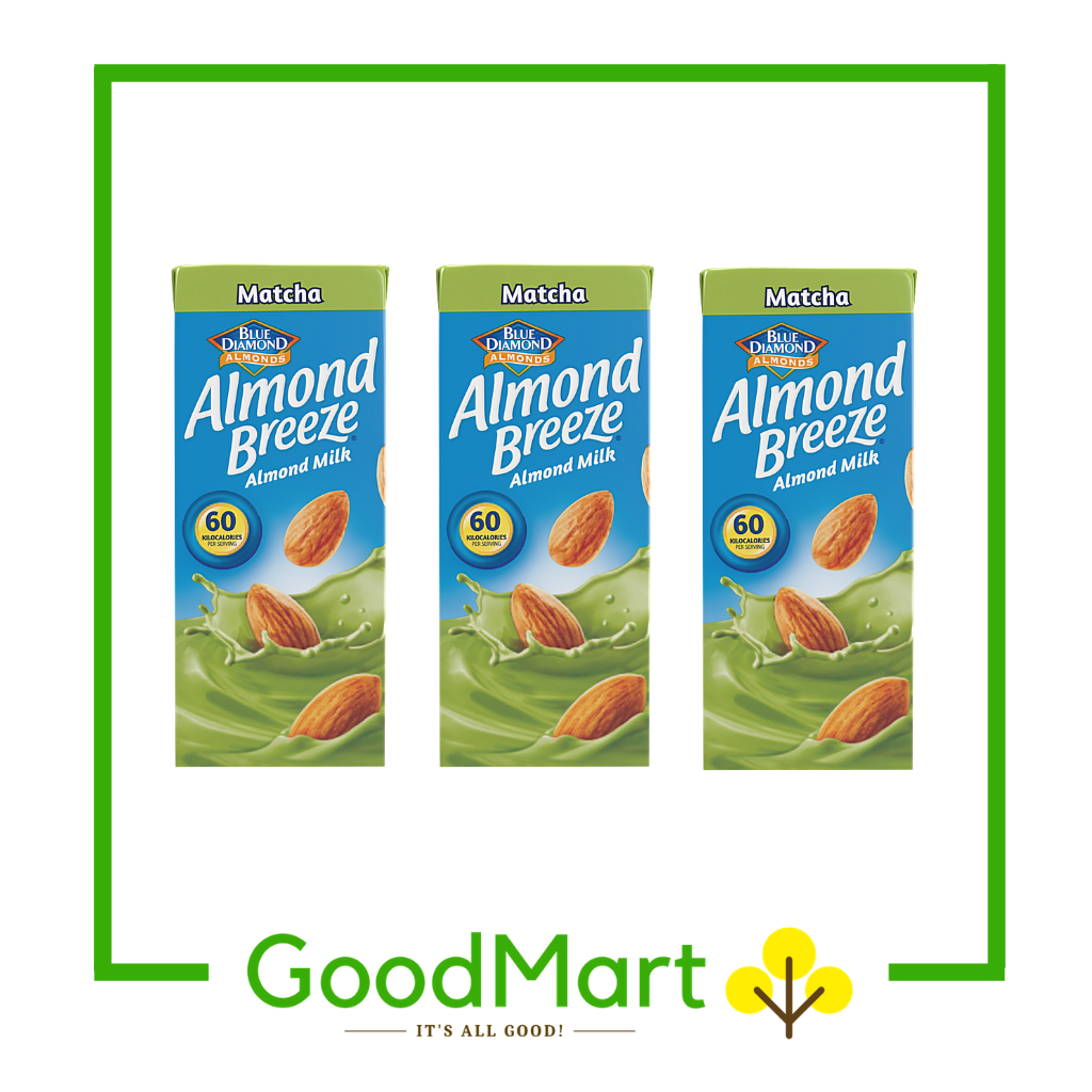 Blue Diamond Almond Breeze Almond Milk Matcha 180MLx3