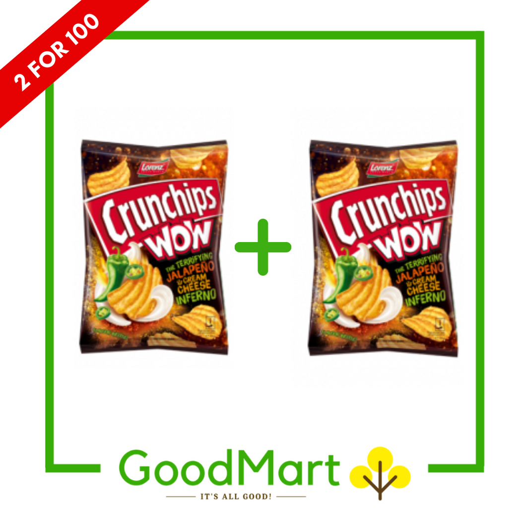 Lorenz Crunchips WOW Jalapeno 110g x 2 packs