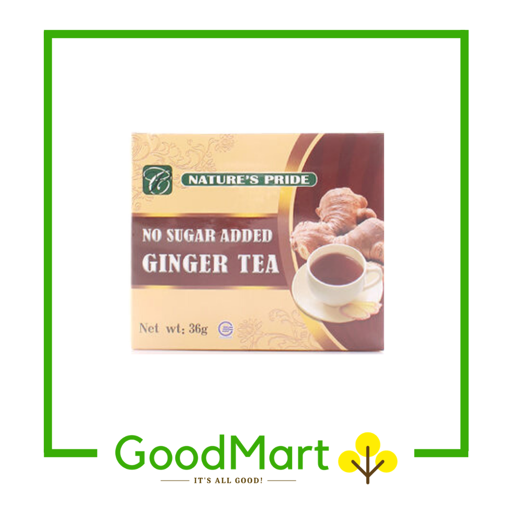Nature's Pride Ginger Tea No Sugar Added 12x8g