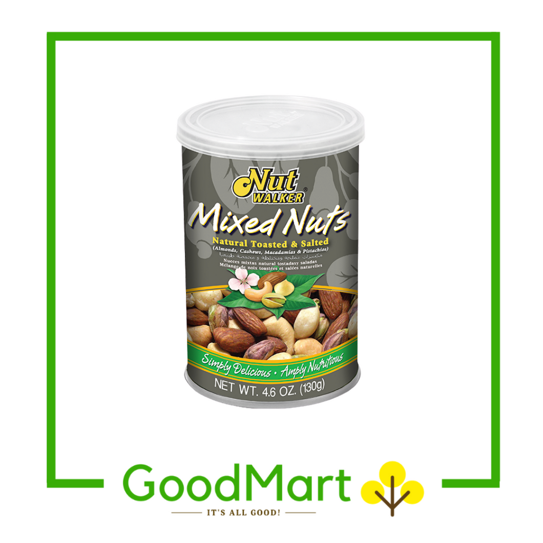 Nutwalker Natural Toasted Mixed Nuts 130g