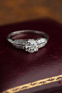 Platinum .69ct Diamond Ring
