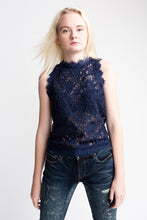 Load image into Gallery viewer, Willow & Clay Lace Blue Tank