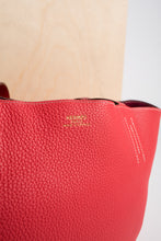 Load image into Gallery viewer, Hermes Double Sens Rose and Cigare Sikkim Leather tote