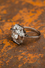 Load image into Gallery viewer, 1.5ct diamond platinum art deco ring