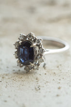 Load image into Gallery viewer, 14kt White Gold 2.49ct Sapphire Ring
