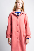Load image into Gallery viewer, Yumi Bubble Gum Ruffle Cuff Coat