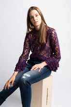 Load image into Gallery viewer, Willow & Clay two tone Lace top