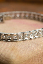 Load image into Gallery viewer, White Gold 5cttw Vintage Diamond Bracelet