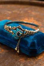 Load image into Gallery viewer, Victorian 14kt Turquoise & Pearl Bracelet