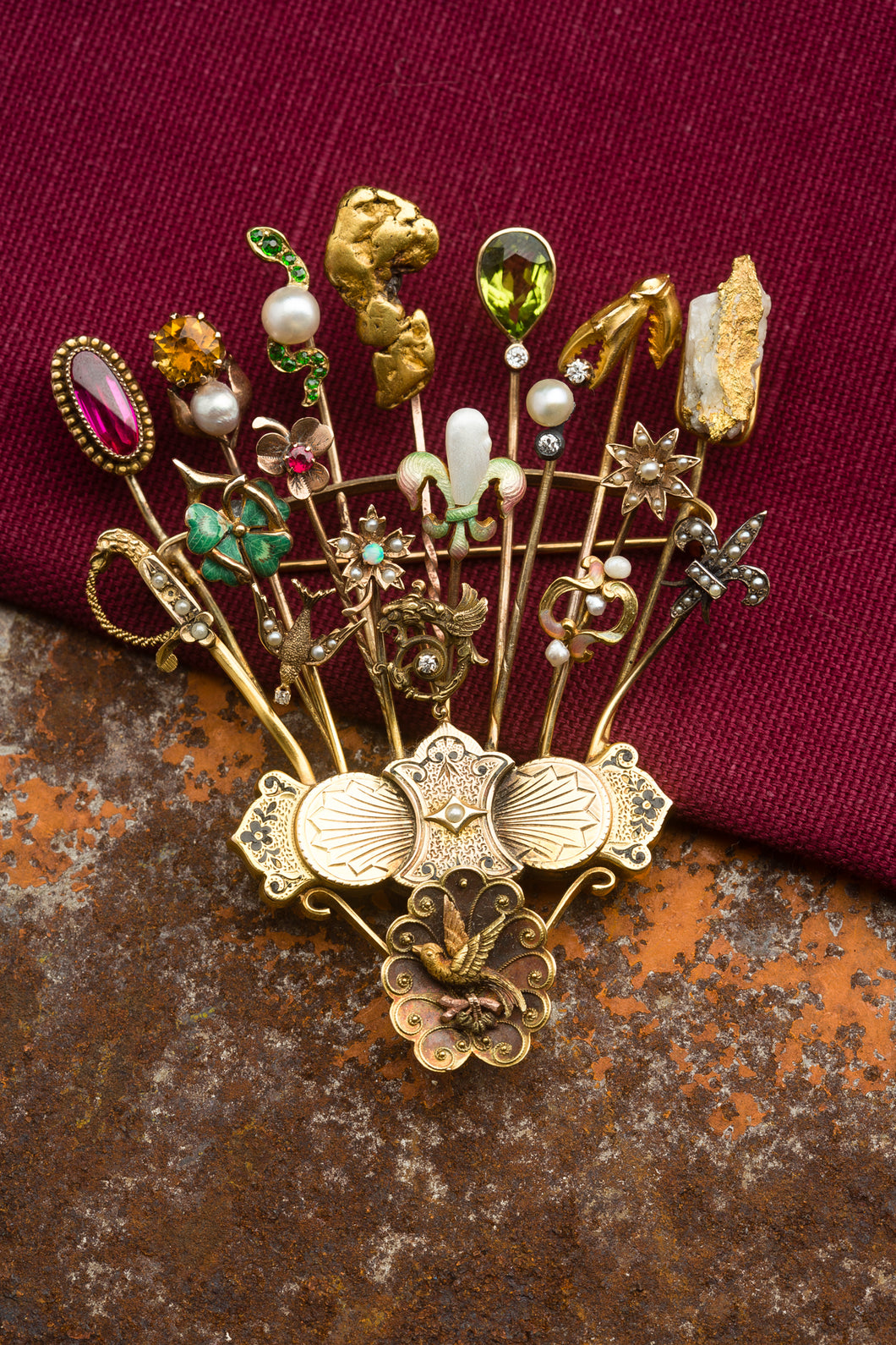 Hat Pin Brooch
