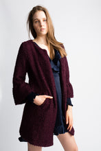 Load image into Gallery viewer, Willow & Clay Berry Ruffle Sleeve Coat