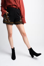 Load image into Gallery viewer, Willow & Clay Black Embroidered Shorts