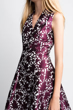 Load image into Gallery viewer, Yumi Flower Jacquard Party Dress