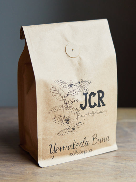 This light roast is an Ethiopian Yirgacheffe coffee that brings out notes of lemon and black tea with a sweet, bright and clean finish.  To support our community, a portion of each purchase will be donated to local food banks.