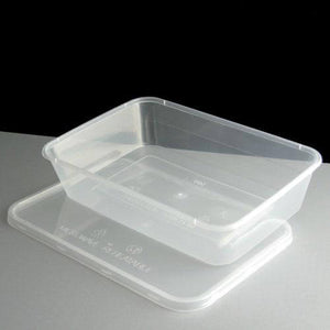 Plastic Food Conatiners 500ml (100)