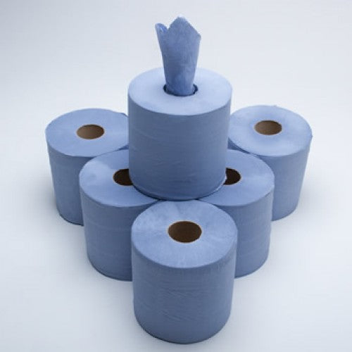 Large Blue Kitchen Roll (Single Roll)