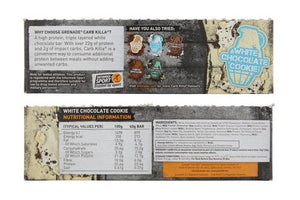 Grenade Carb Killa High Protein Bar White Chocolate Cookie (case of 12 x 60g)