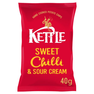 Kettle Chips Sweet Chilli 40g Bags pack of 18