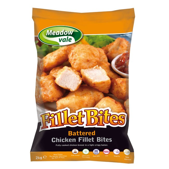 Chicken Fillet Bites Nuggets 25g-35g 2kg