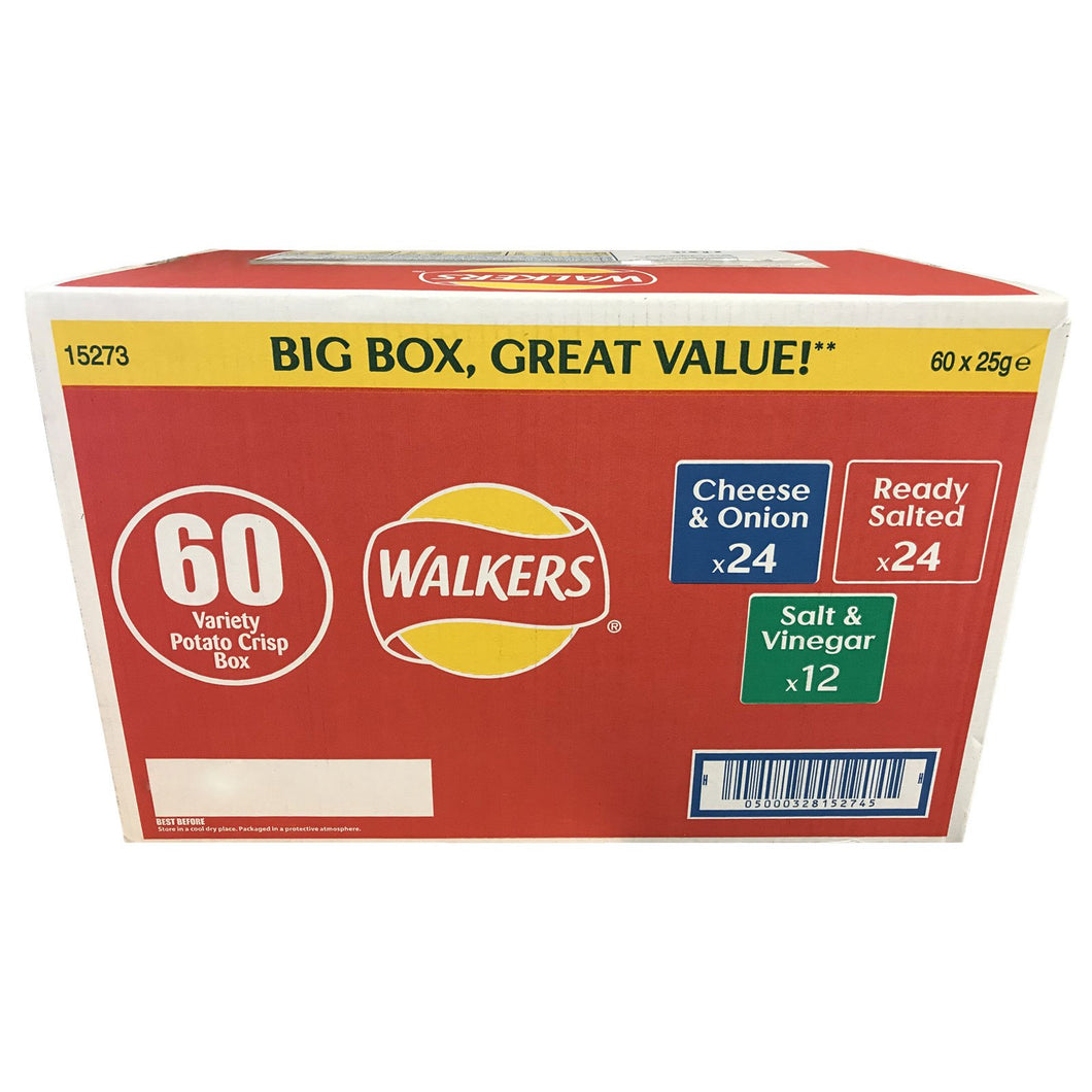 Walkers Variety Box - Huge 60 packs