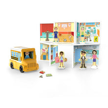 Load image into Gallery viewer, Melissa & Doug Magnetivity Magnetic Tiles Building Playset – School with School Bus Vehicle (106 Pieces, STEM Toy) by Melissa & Doug