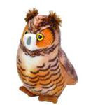 Audubon II Great Horned Owl Stuffed Animal with Sound - 5""