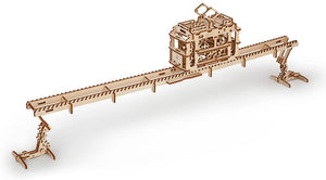 3D Self Propelled Model Tram with Rails by UGEARS