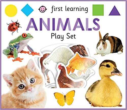 First Learning Animals Play Set Board book