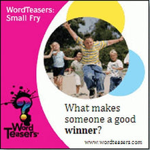 Load image into Gallery viewer, Word Teasers Small Fry - Interactive Vocabulary Trivia Game Cards Featuring Words for Children