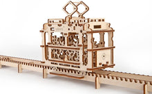 Load image into Gallery viewer, 3D Self Propelled Model Tram with Rails by UGEARS