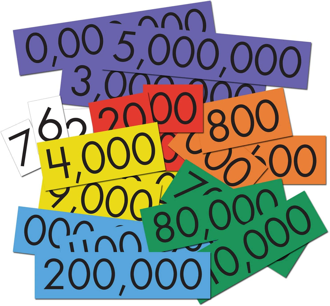 Essential Learning Products 7-Value Whole Numbers Place Cards Set