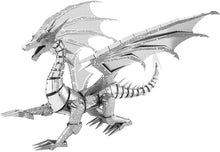 Load image into Gallery viewer, ICONX Silver Dragon 3D Metal Model Kit
