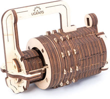 Load image into Gallery viewer, Combination Lock Wooden 3D Mechanical Puzzle by UGEARS