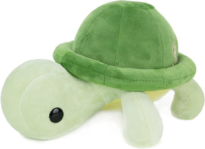 Bellzi Green Turtle Cute Stuffed Animal Plush Toy - Adorable Soft Turtle