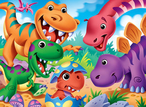 The Right Fit Kids Googly Eyes Jigsaw Puzzle, Dinosaurs