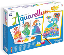 Load image into Gallery viewer, Sentosphere Junior Aquarellum Flower Princesses Arts and Crafts Paint Set