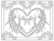 Load image into Gallery viewer, Creative Haven Unicorns Coloring Book