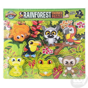 "11.75"" X 10.25"" 7 PC Chunky Rainforest Puzzle"