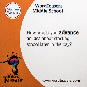 Middle School Word Teasers