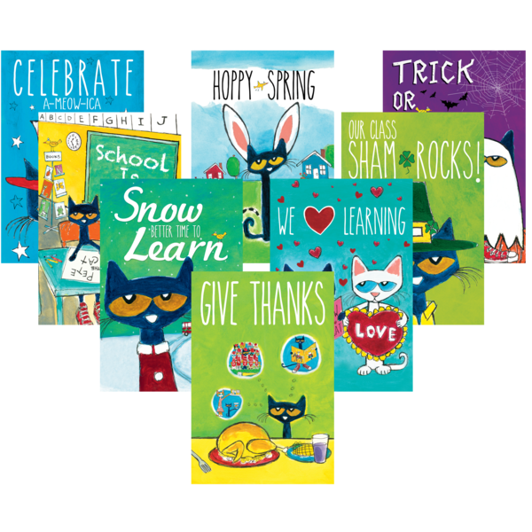 Pete the Cat Holiday and Seasonal Poster Set