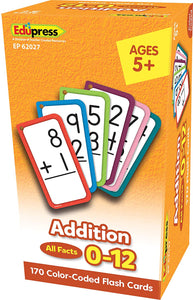 Flashcards Addition All Facts 0-12
