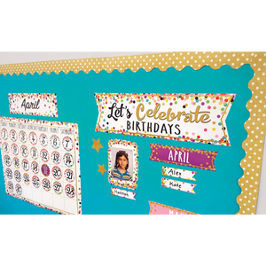 Confetti Let's Celebrate Birthdays Mini Bulletin Boar