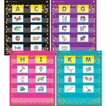 Load image into Gallery viewer, Confetti Colorful Magnetic Mini Pocket Charts TCR20332