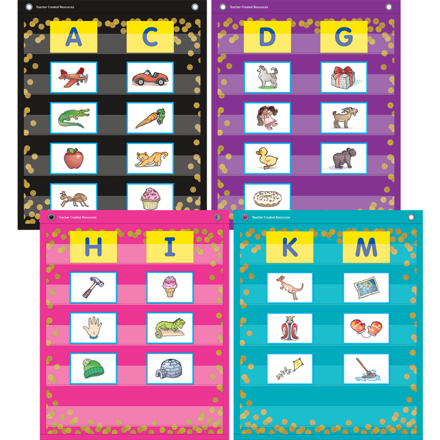 Confetti Colorful Magnetic Mini Pocket Charts TCR20332