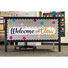 Load image into Gallery viewer, Confetti Welcome to Our Class Banner