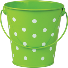 Load image into Gallery viewer, Lime Polka Dots Bucket