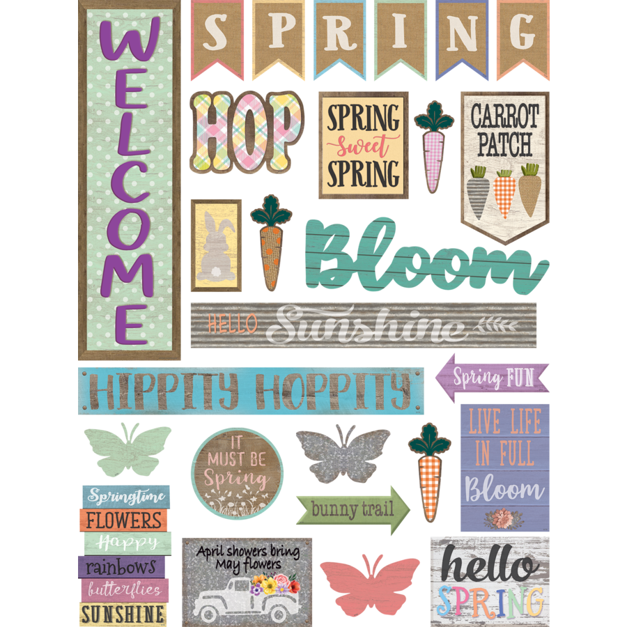 Teacher Created Resources Home Sweet Classroom Spring Mini Bulletin Board