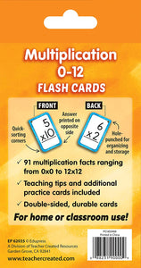Multiplication 0–12 Flash Cards